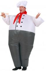 Oppustelig kok udklædning til voksne