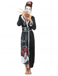 Drage geisha - Sort geisha kostume til kvinder