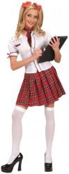 Kostume skolepige dame