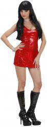 Kostume rød disco kjole til kvinder