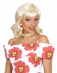 Blond 50er paryk til dame