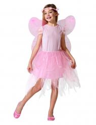 Udklædningsdragt lyserød elver barn