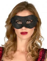 Sort øjenmaske med palietter til voksne
