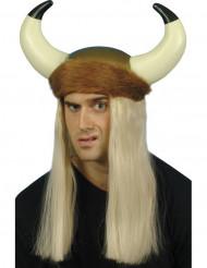 Vikingehjelm med pelskant