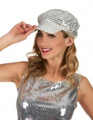 Disco kasket i sølv til voksne