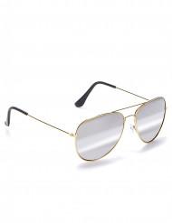 Pilotbriller med guld stel til voksne