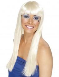 Blond lang paryk til dame
