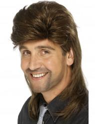 Brun paryk med hockey hår til mænd