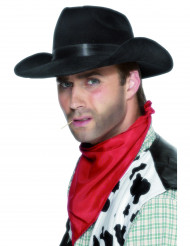 Sort cowboyhat til voksne