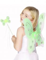 Grønt sommerfuglesæt til piger