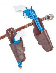 Cowboypistoler i plastik med hylstre