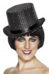 Hat sort med glimmer