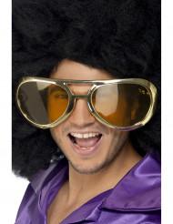Guldfarvede kæmpe briller til voksne