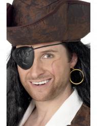 Øreringe og øjeklap til pirat til voksne