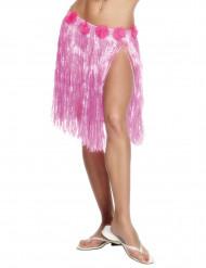 Kort pink Hawaiiskørt til kvinder