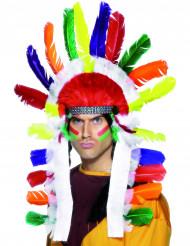 Farverig indianer hovedbeklædning til voksne