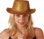 Cowboyhat med guld glimmer