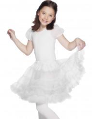 Hvid tylnederdel til børn