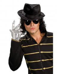 Michael Jackson™ sølvhandske med pallietter voksen