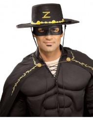Zorro™ hat og maske voksen