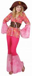 Pink hippiedragt til kvinder