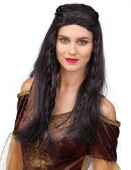 Middelalder sort paryk kvinde