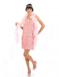 Kostumecharleston til kvinder lyserødt