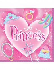 Servietter 16 stk prinsesse 33x33cm