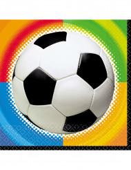 16 papirservietter fodbold 33 x 33 cm