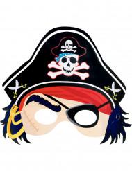 Papmaske pirat barn
