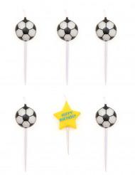 5 fødseldag stearinlys fodbold