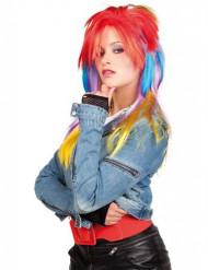 Flerfarvet punkparyk voksen