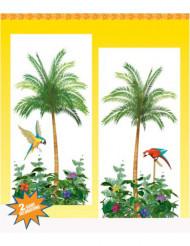 Vægdekoration med palmer