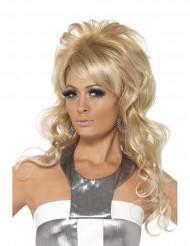 Blond paryk med pandehår til kvinder