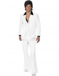 Disko-kostume i hvid herre