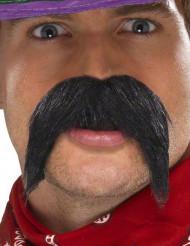Overskæg sort gringo til voksne
