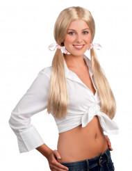 Blond skolepige paryk voksen