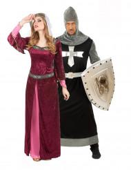 Parkostume dronning og middelalder ridder