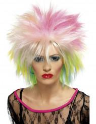 Flerfarvet punkparyk kvinde