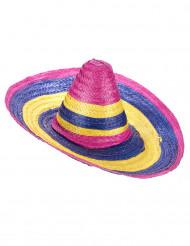 Flerfarvet sombrero voksen