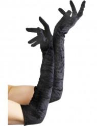 Sorte lange handsker kvinde