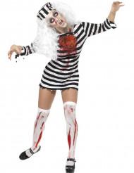 Zombie fangekostume til voksne - Halloween