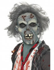 Halloween grå zombiemaske til voksne
