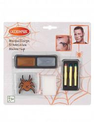 Makeup med pailletter og tatoveringer Halloween