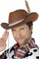 Brun cowboyhat voksen