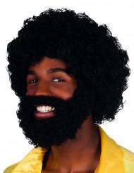 Mambo paryk med skæg og moustache voksen