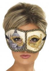 Venetiansk maske guld voksen