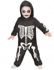 Skeletdragt barn