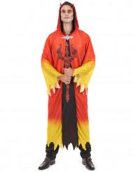 Gult og rødt djævlekostume til mænd - Halloweenkostume