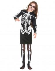 Kostume skelet til piger Halloween
